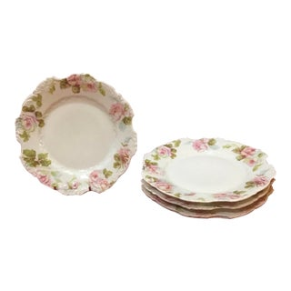 Antique Porzellanfabrik Hermann Ohme Porcelain Plates - Set of 5 For Sale