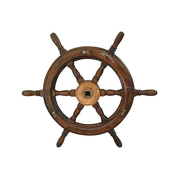 Vintage Mahogany Nautical Ship's Wheel - Image 2 of 4