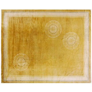 """1920s Chinese Art Deco Rug - 11'4""""x13'9"""" For Sale"""