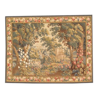 "Pasargad Tapestry Silk & Wool Rug- 5'4"" X 6'9"" For Sale"