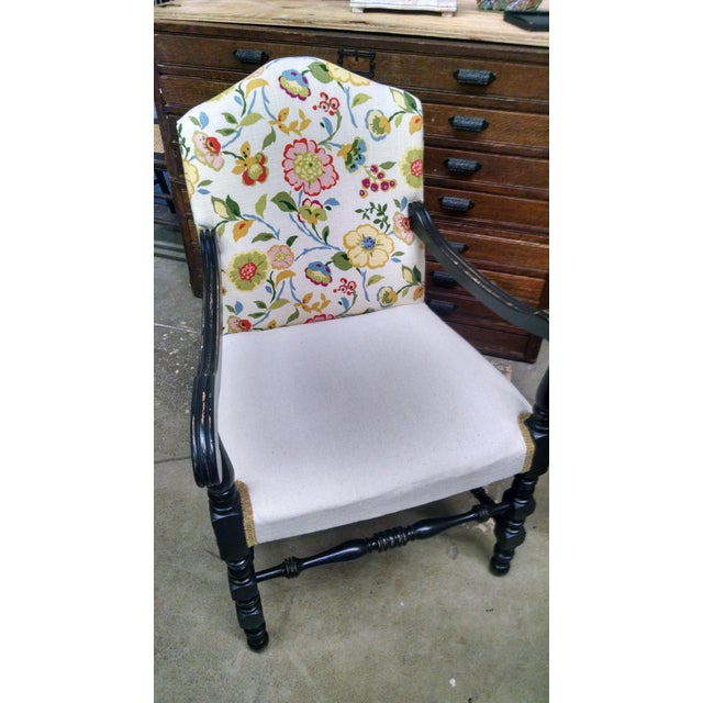 Vintage French Floral Accent Chair - Image 7 of 8
