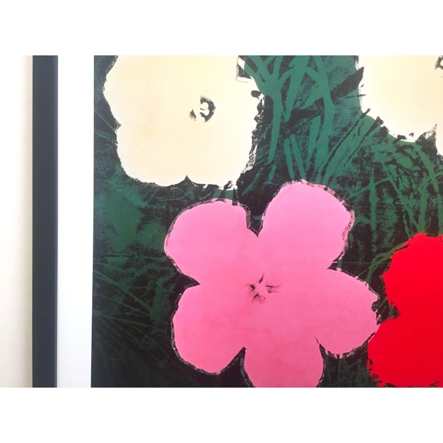 """Andy Warhol Foundation Vintage Lithograph Print Framed Pop Art Poster """" Flowers III """" 1964 For Sale In Kansas City - Image 6 of 13"""