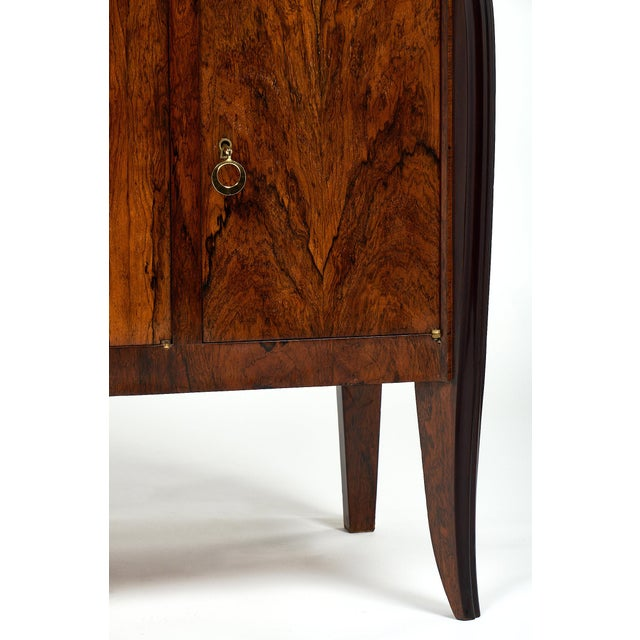 Gold French Art Deco Period Rosewood Buffet For Sale - Image 8 of 10