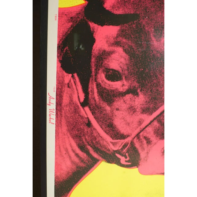1957 Andy Warhole, cow lithograph Conditions : perfect MEASUREMENTS Height: 120cm (47.2in) Length/Width: 80cm (31.5in)