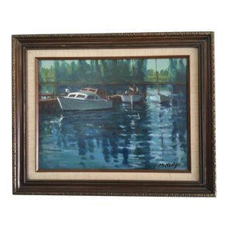 Vintage Oil on Canvas Painting - Napa River