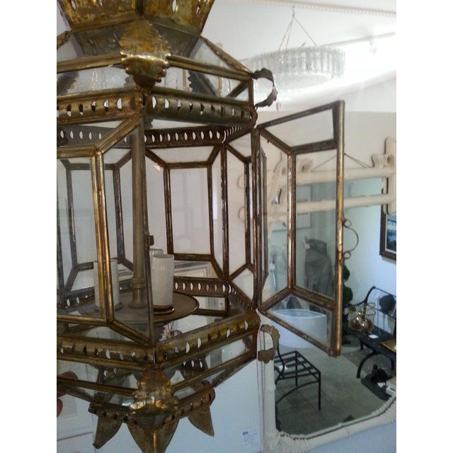 Gold Mid-Century Spanish Colonial Style Chandelier For Sale - Image 8 of 12