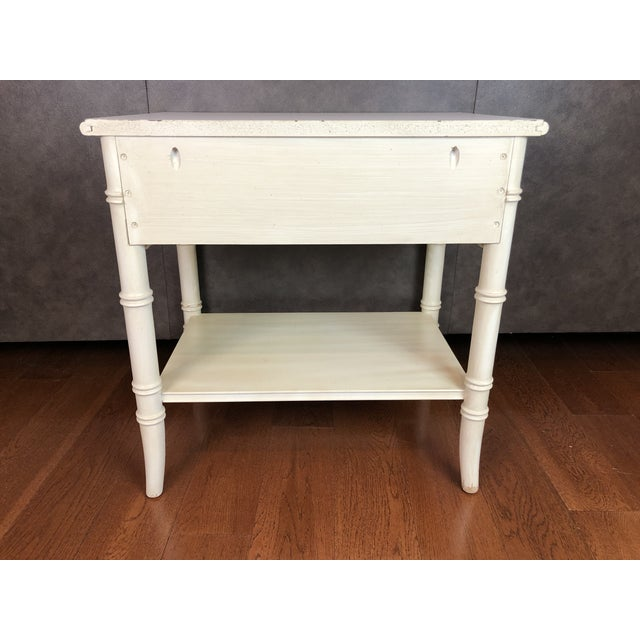 Thomasville Thomasville Faux Bamboo Nightstand For Sale - Image 4 of 6
