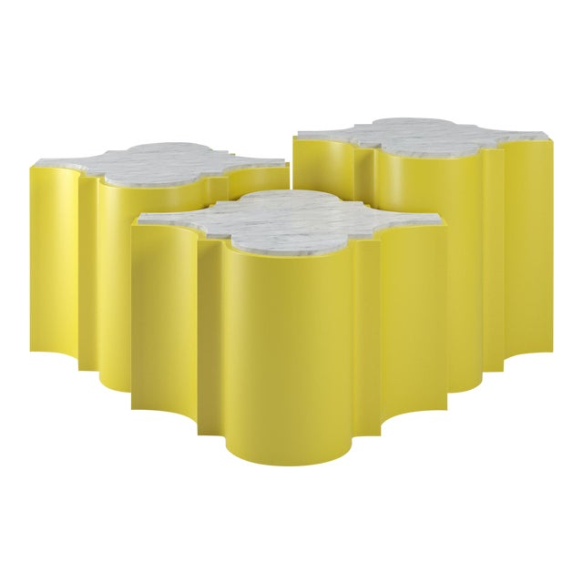 Sofia Nesting Tables, Set of 3 - Citron For Sale