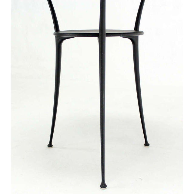 Aluminum Mid-Century Italian Modern Tri-Leg Cafe Table by Arper For Sale - Image 7 of 10