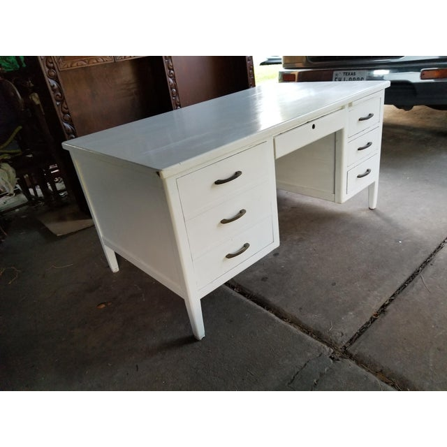 Mid Century Modern Style Executive Desk For Sale In Houston - Image 6 of 13