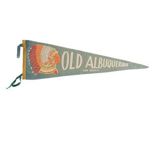 Vintage Old Albuquerque New Mexico Felt Flag Pennant For Sale