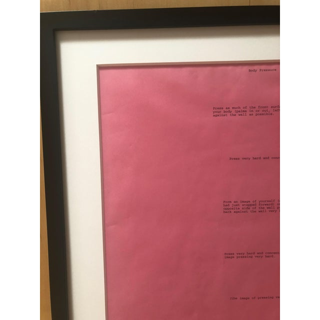 Dia: Beacon Art Foundation, 1974 Bruce Nauman Body Pressure Framed Pink Print For Sale - Image 4 of 7