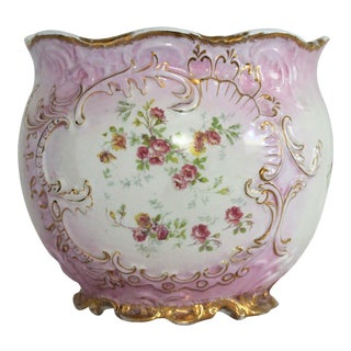 Limoges Hand Painted Cachepot For Sale