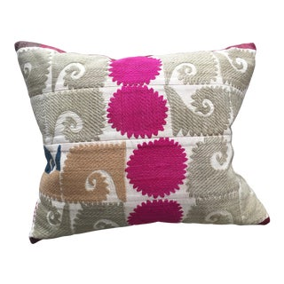 Hand Embrodered Suzani Textile Pillow