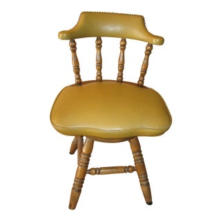 Vintage Mid Century Maple Windsor Swivel Chair For Sale
