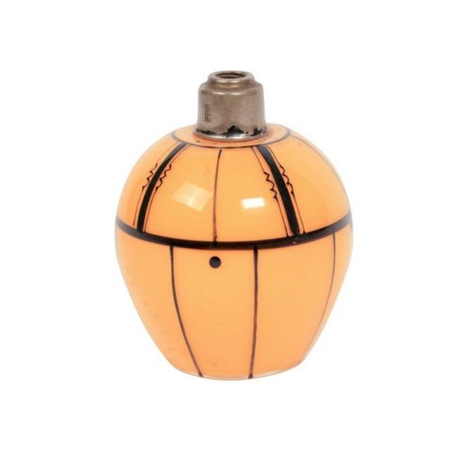 Czech Art Deco Tangerine Perfume Bottle - Image 3 of 3