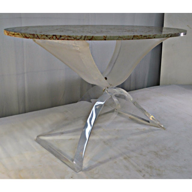 Lucite & Marble Coffee Table - Image 4 of 8