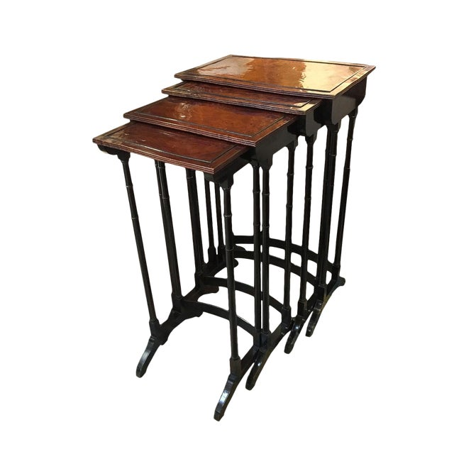 Early 19th Century English Quartetto Stackable Nesting Tables - Set of 4 For Sale