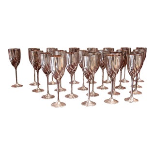 Italian 40's Twenty-three Silver-Plated Italian Chalices For Sale