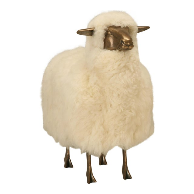 Old Plank Solid Bronze Sheep For Sale