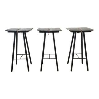Danish Modern Skagerak Georg Barstools - Set of 3 For Sale