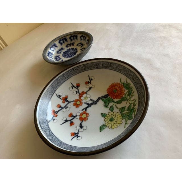 Midcentury Asian Chinoiserie Decor Trays Bowls For Sale - Image 10 of 12
