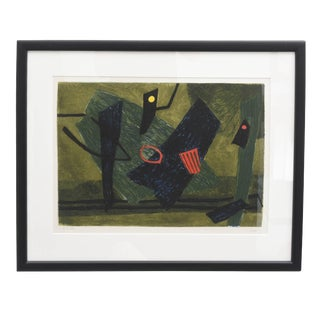 Surrealist Carborundum Collagraph by Henri Goetz, Paris 1960s For Sale