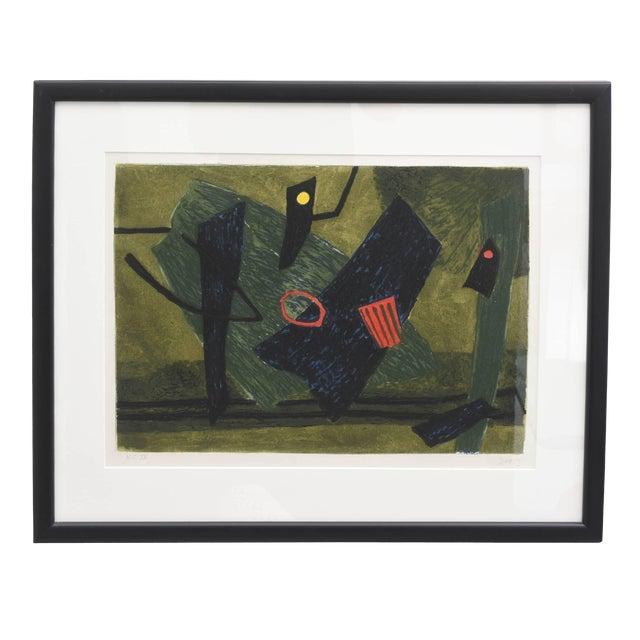 Surrealist Carborundum Collagraph by Henri Goetz, Paris 1960s For Sale