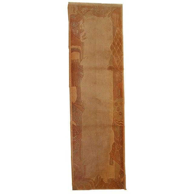 1970s Vintage Tibetan Khaden Hand Made Runner - 2'6'' X 9'1'' For Sale