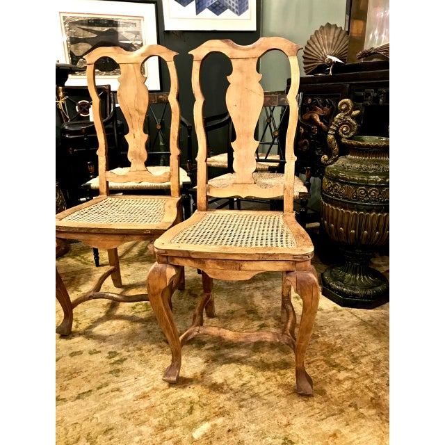 18th Century Swedish Baroque Side Chairs - a Pair For Sale In Los Angeles - Image 6 of 7