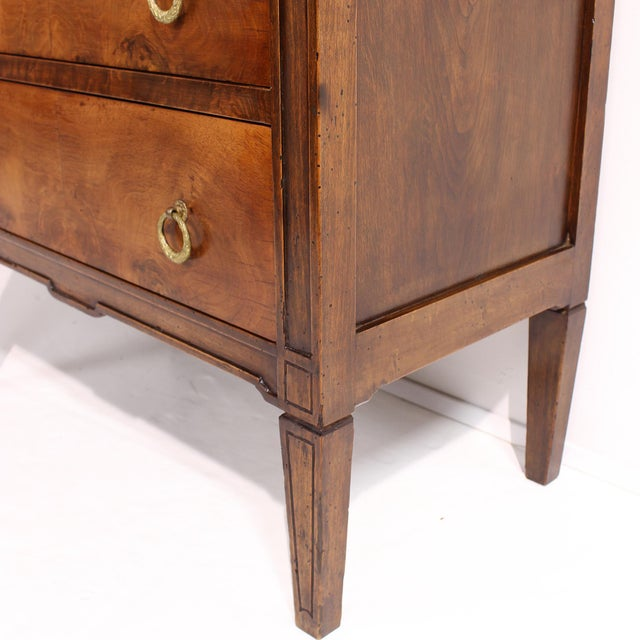 Brown 19th Century Louis XVI Style Chest With Marble Top For Sale - Image 8 of 13