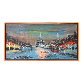 Mid Century Modern Painting For Sale