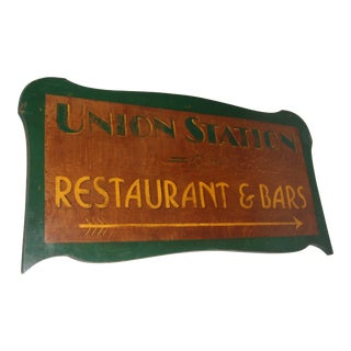 Union Station Restaurant & Bars Sign
