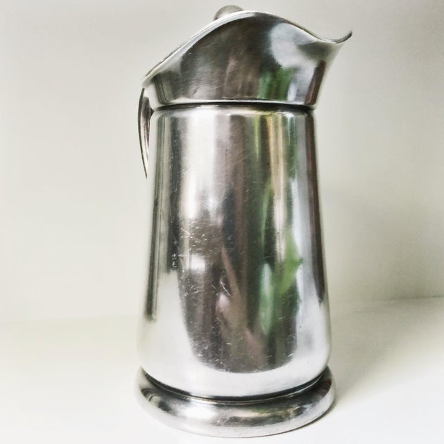 Mid-Century Modern 1955 Silver Plated Insulated Pitcher From Gunter Hotel in San Antonio Tx For Sale - Image 3 of 7