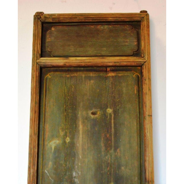 Asian Antique Chinese Rustic Panel Door For Sale - Image 3 of 8