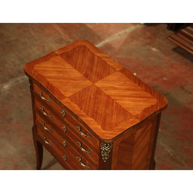 French Early 20th Century Louis XV Walnut Marquetry Chest With Silverware, 145 Pieces For Sale - Image 3 of 13