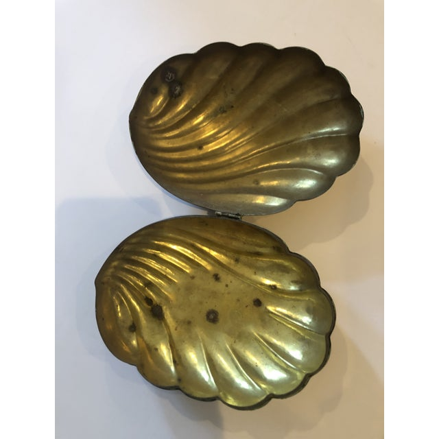 Vintage Brass Shell Box For Sale In Philadelphia - Image 6 of 8
