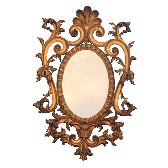 Rococo Giltwood Wall Mirror For Sale