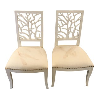 Oly Coral Dining Chairs - a Pair For Sale