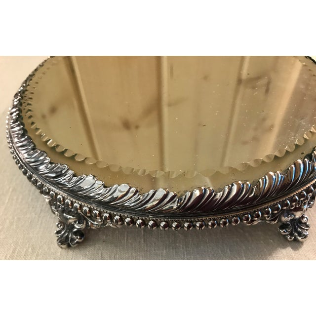 Vintage Silverplate Mirrored Plateau Stand - Image 7 of 10