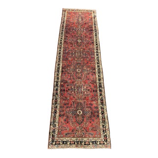 1950s Vintage Persian Hamadan Runner Rug - 3′9″ × 14′9″ For Sale