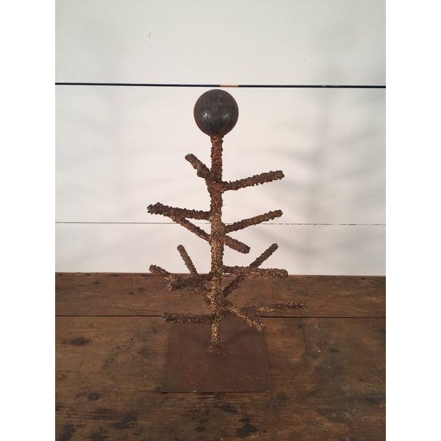 Brutalist Folk Art Tree Sculpture - Image 2 of 8