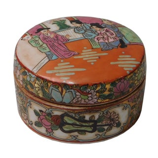 Chinese Decorative Porcelain Box For Sale