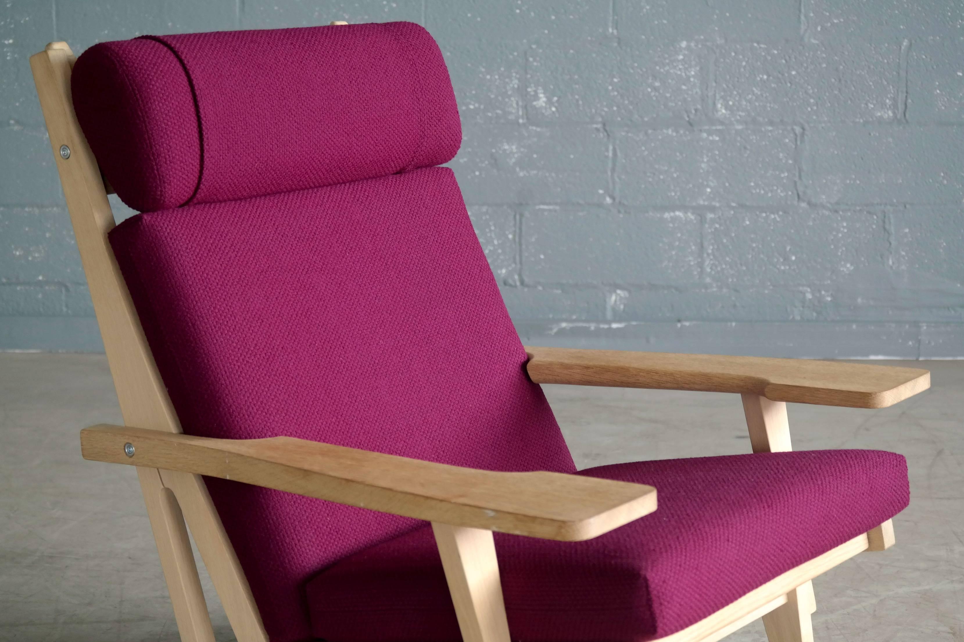 Charmant Hans Wegner High Back Easy Chair In Oak Model GE375 For GETAMA For Sale    Image