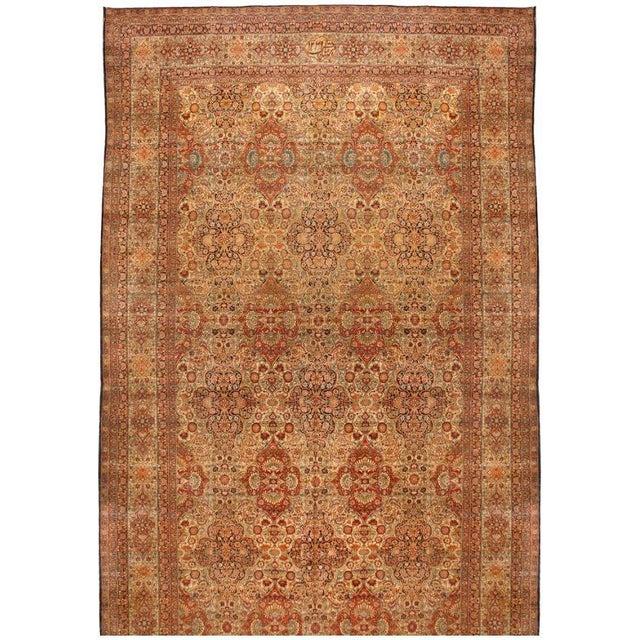 Exceptional Antique Lavar Carpet - Image 1 of 1