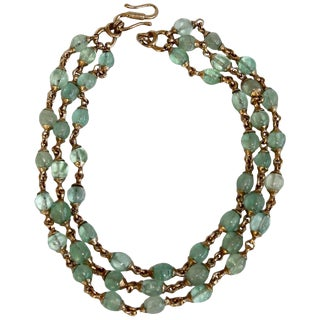 Goossens Paris Fluorine Triple Row Necklace For Sale