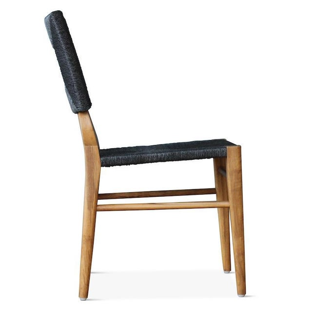 """Hollywood at Home Outdoor """"How to Marry a Millionaire"""" Dining Chair in Charcoal or Sand For Sale - Image 4 of 6"""