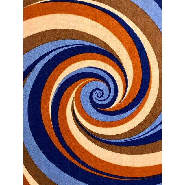 "Original Curry Melin ""Hurricane"" Swiss Fabric Print For Sale - Image 4 of 7"