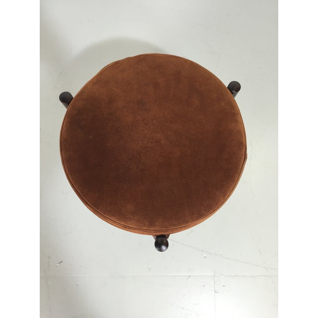 Danish Suede and Rosewood Stool - Image 6 of 6