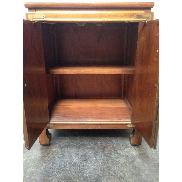 Thomasville Burled Asian Style Cabinet - Image 4 of 8